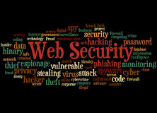 Web Security, word cloud concept 7 Royalty Free Stock Image