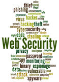 Web Security, word cloud concept 4 Royalty Free Stock Photography