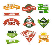 Web selling discount offer banners ads set with origami elements Royalty Free Stock Photo