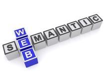 Web semantic sign Stock Photos