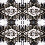 Web senza cuciture tribale moderno arancio del modello di Ikat Fotografie Stock Libere da Diritti