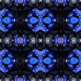 Web senza cuciture tribale moderno blu del modello di Ikat Fotografia Stock