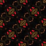 Web senza cuciture tribale moderno rosso del modello di Ikat Fotografia Stock