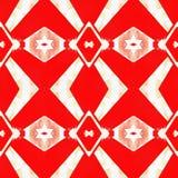 Web senza cuciture tribale moderno rosso del modello di Ikat Fotografie Stock Libere da Diritti