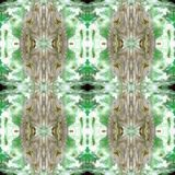 Web senza cuciture tribale moderno verde del modello di Ikat Fotografia Stock Libera da Diritti