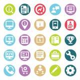 A Web, SEO, as ferramentas e os vetores de duas cores do Glyph do mercado de Digitas isolaram o bloco editável dos ícones ilustração royalty free