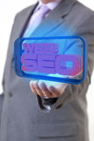 Web SEO Businessman Fotografie Stock