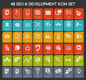 Web seo icon set Royalty Free Stock Photo