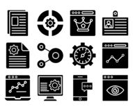 Web and SEO Isolated Vector Icons Set that can be easily modified or Edit. Web and SEO Isolated Vector Icons Set that can be eas stock illustration