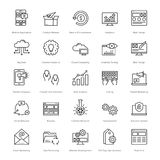 Web and SEO Line Vector Icons 2 Royalty Free Stock Images