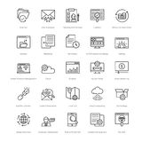 Web and SEO Line Vector Icons 16 Stock Photo