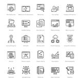 Web and SEO Line Vector Icons 28 Royalty Free Stock Images