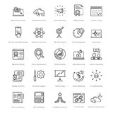 Web and SEO Line Vector Icons 7 Royalty Free Stock Photography