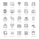Web and SEO Line Vector Icons 4 Stock Photos