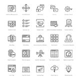 Web and SEO Line Vector Icons 33 Royalty Free Stock Image