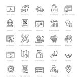 Web and SEO Line Vector Icons 22 Royalty Free Stock Photo