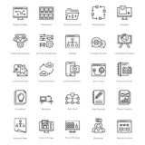 Web and SEO Line Vector Icons 44 Royalty Free Stock Photography