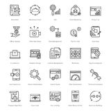 Web and SEO Line Vector Icons 5 Stock Photography