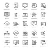 Web and SEO Line Vector Icons 54 Stock Image