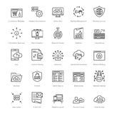 Web and SEO Line Vector Icons 47 Royalty Free Stock Photography