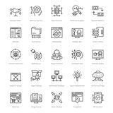Web and SEO Line Vector Icons 57 Royalty Free Stock Image