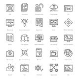 Web and SEO Line Vector Icons 49 Royalty Free Stock Photos