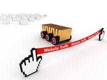 Web SEO. A SEO managed website wins the Website traffic Stock Images