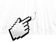 Web SEO. Web Marketing via SEO fishes efficiently Royalty Free Stock Image