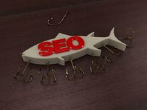 Web SEO. Time for big game Royalty Free Stock Images