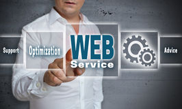 Web service touchscreen concept background Stock Photo