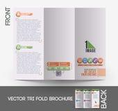 Web Service Tri-Fold Brochure Stock Photography