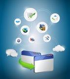 Web Services idea conceptual map Stock Images
