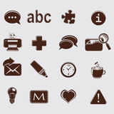 Web set icons on grey Royalty Free Stock Image