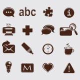 Web set icons on grey Royalty Free Stock Image