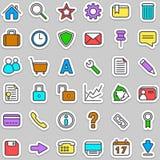 Web set icons Stock Image