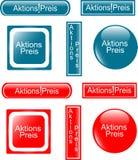 Web shiny Button price icon Stock Image