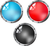 Web shiny buttons Royalty Free Stock Photo