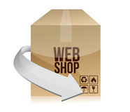 Web shop box illustration design Stock Photo