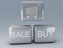 Web shop button and icon Royalty Free Stock Image