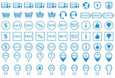 Web shop icons Stock Photos
