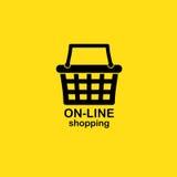 Web shopping background Stock Images