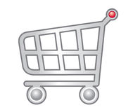 Web Shopping Cart. A vector shopping cart designed for web sites Vector Illustration