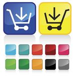 Web shopping cart buttons Royalty Free Stock Images