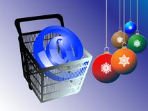 Web shopping for happy new year Royalty Free Stock Photography