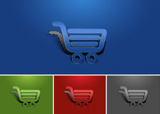 Web shopping icon design Royalty Free Stock Photo