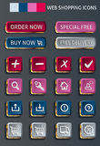 Web shopping icons Stock Photos