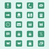 Web shopping icons set Stock Image
