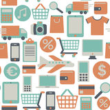 Web shopping pattern Stock Photo