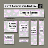 Web side Valentine's day banners Stock Images
