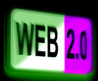 Web 2.0 Sign Means Dynamic User WWW Stock Photo